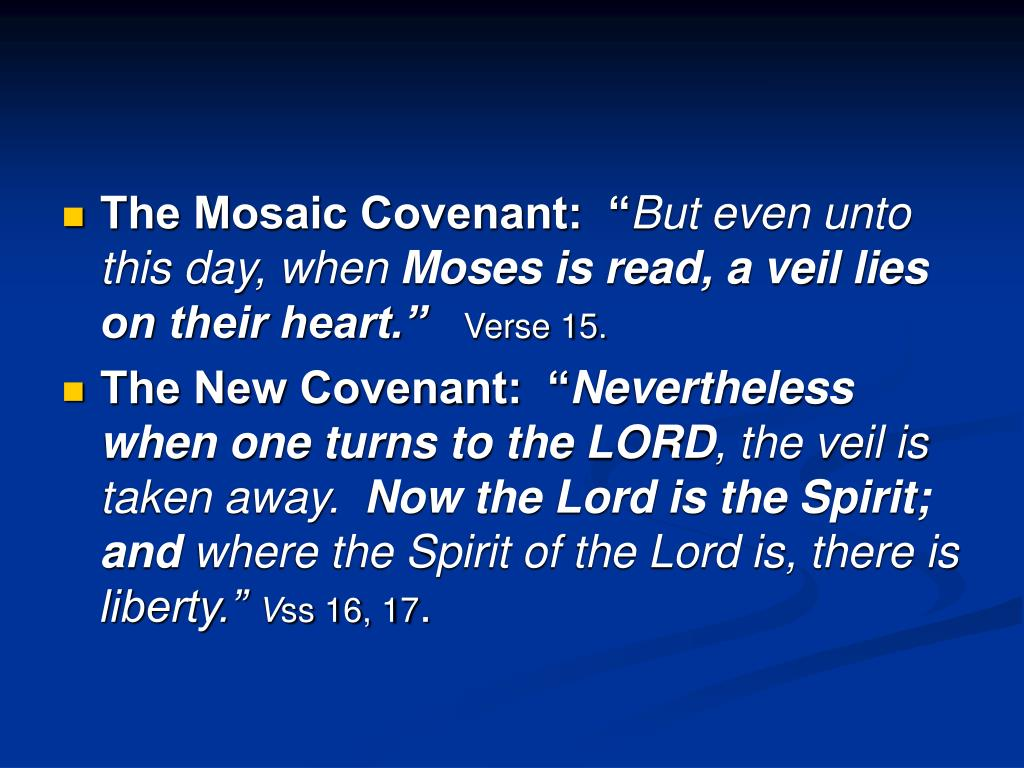 """The Mosaic Covenant:  """""""