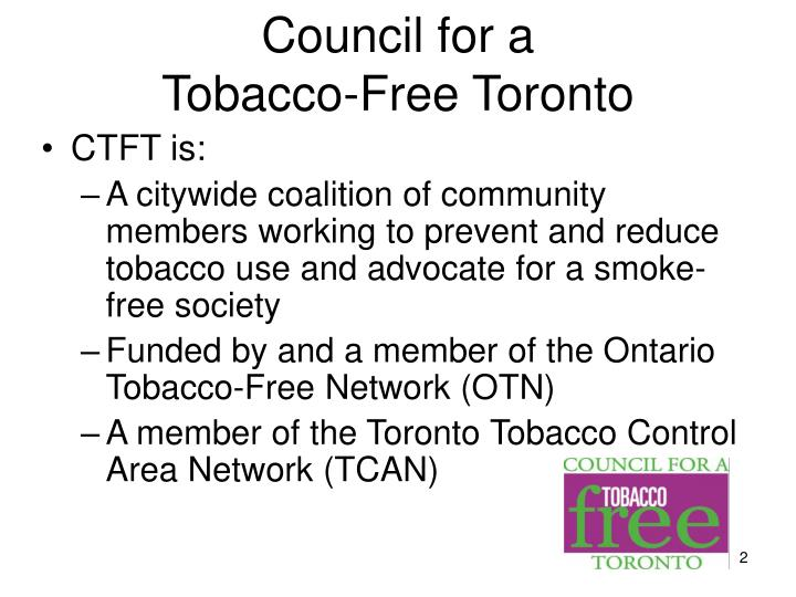 Council for a tobacco free toronto