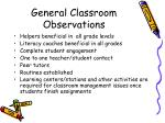 general classroom observations