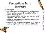 perceptions data summary21
