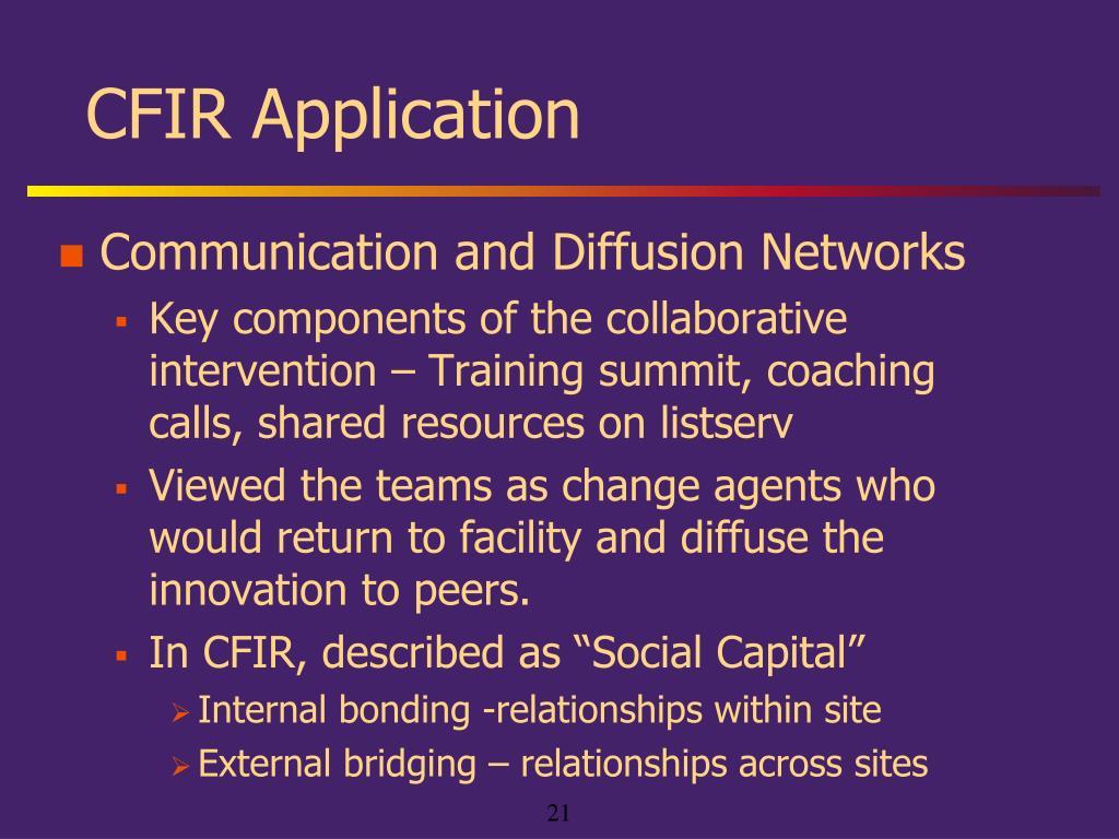 CFIR Application