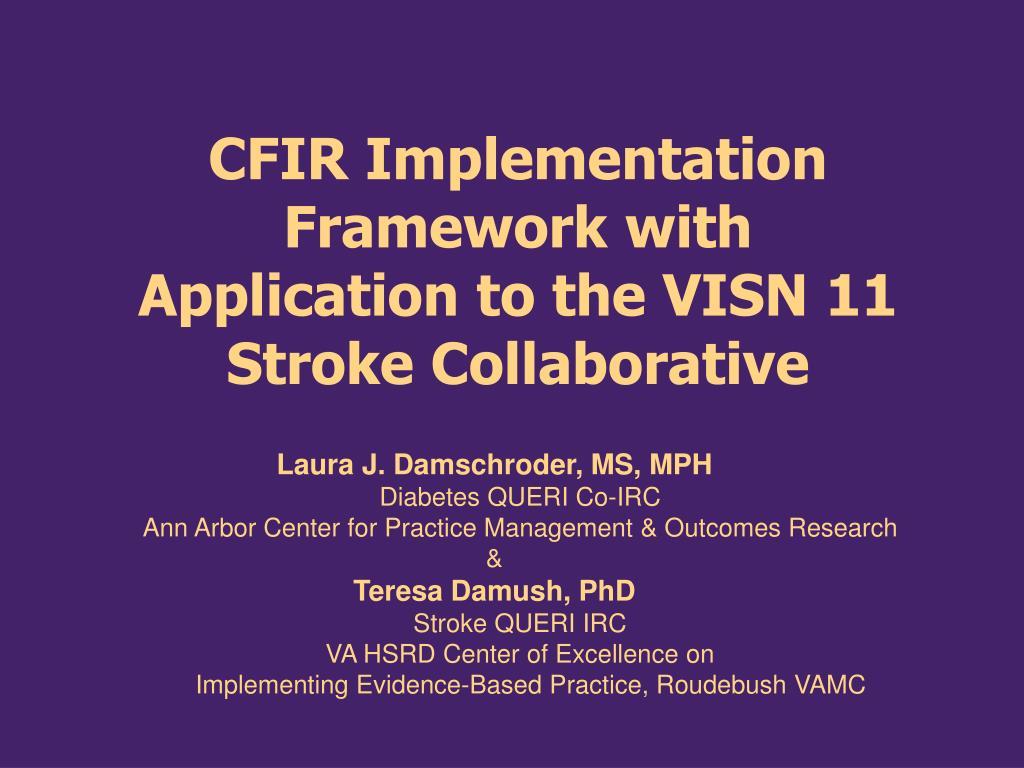 CFIR Implementation Framework with