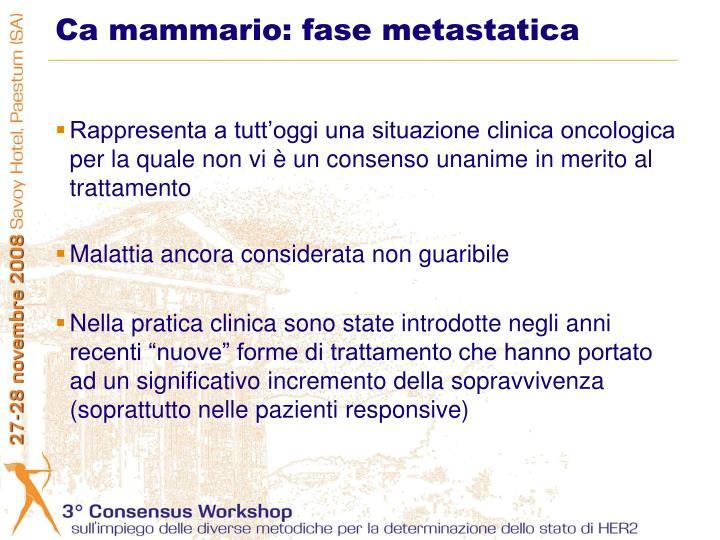 Ca mammario fase metastatica