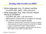 dealing with overflow in mips