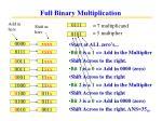 full binary multiplication25