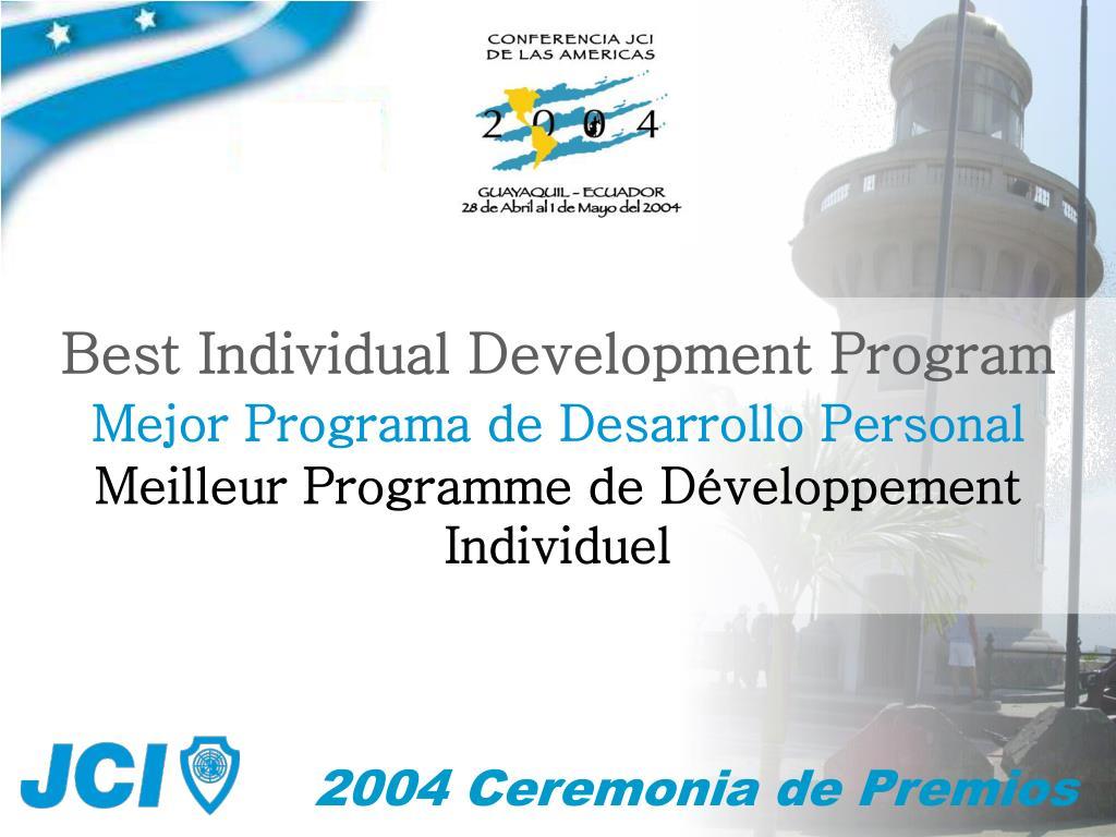 Best Individual Development Program