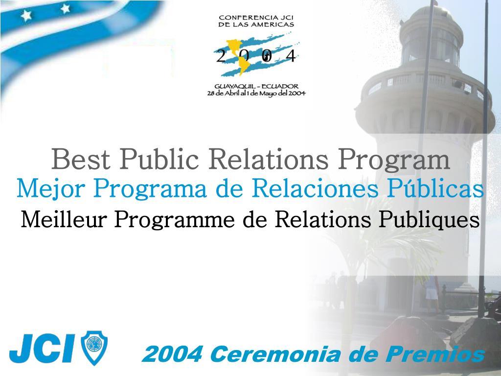 Best Public Relations Program