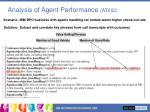 analysis of agent performance at002