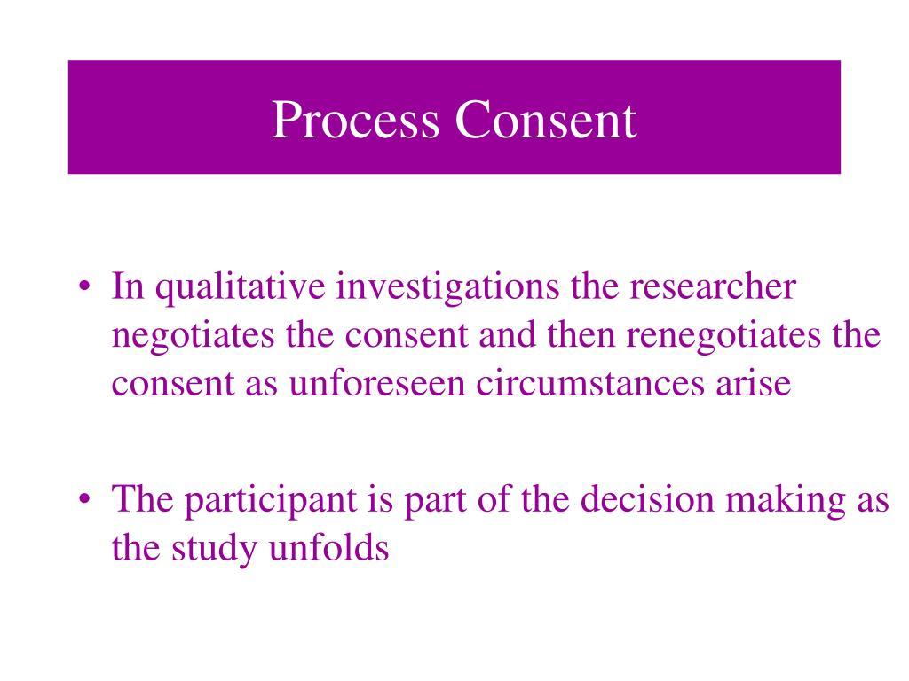 Process Consent