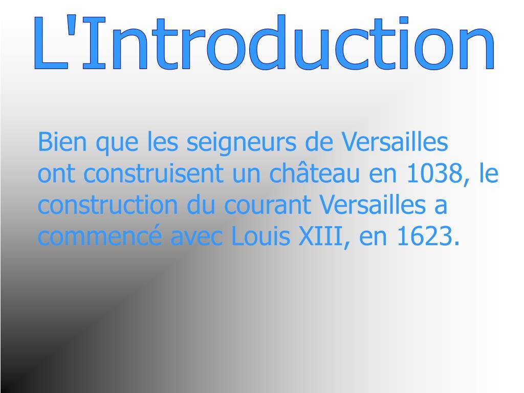 L'Introduction