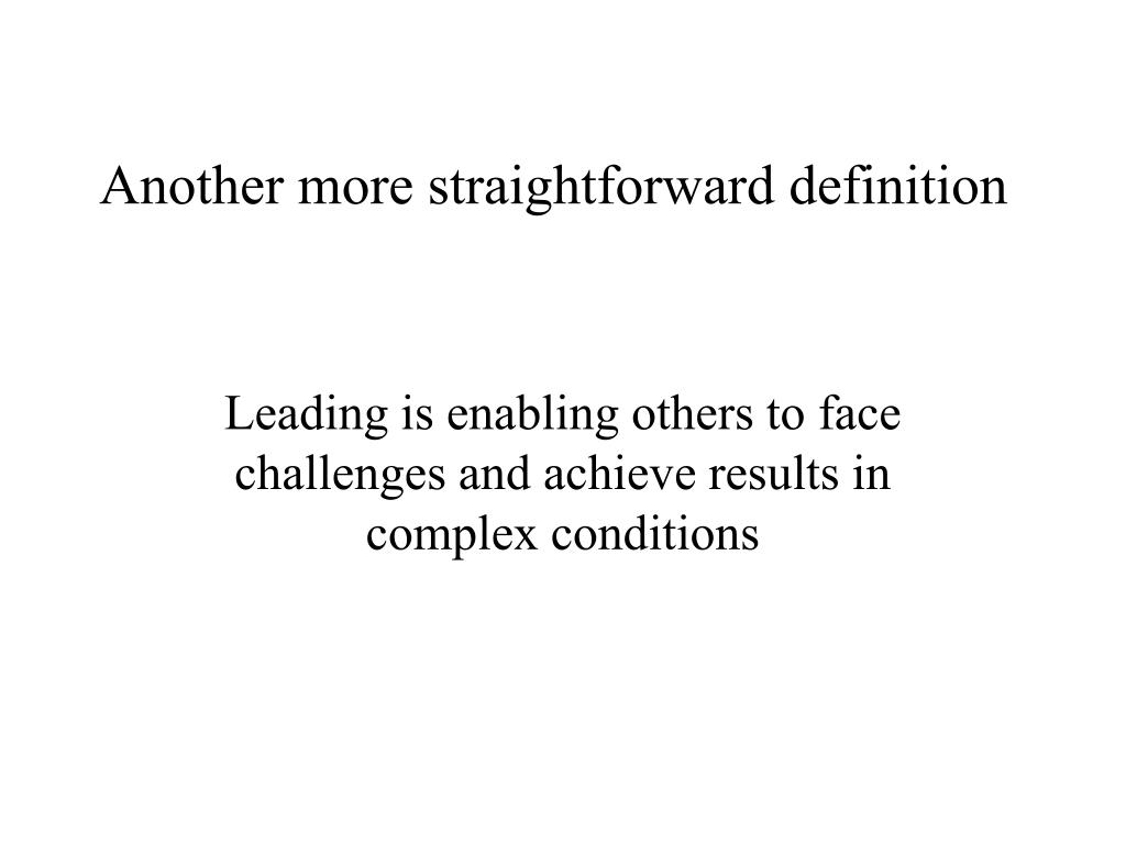 Another more straightforward definition