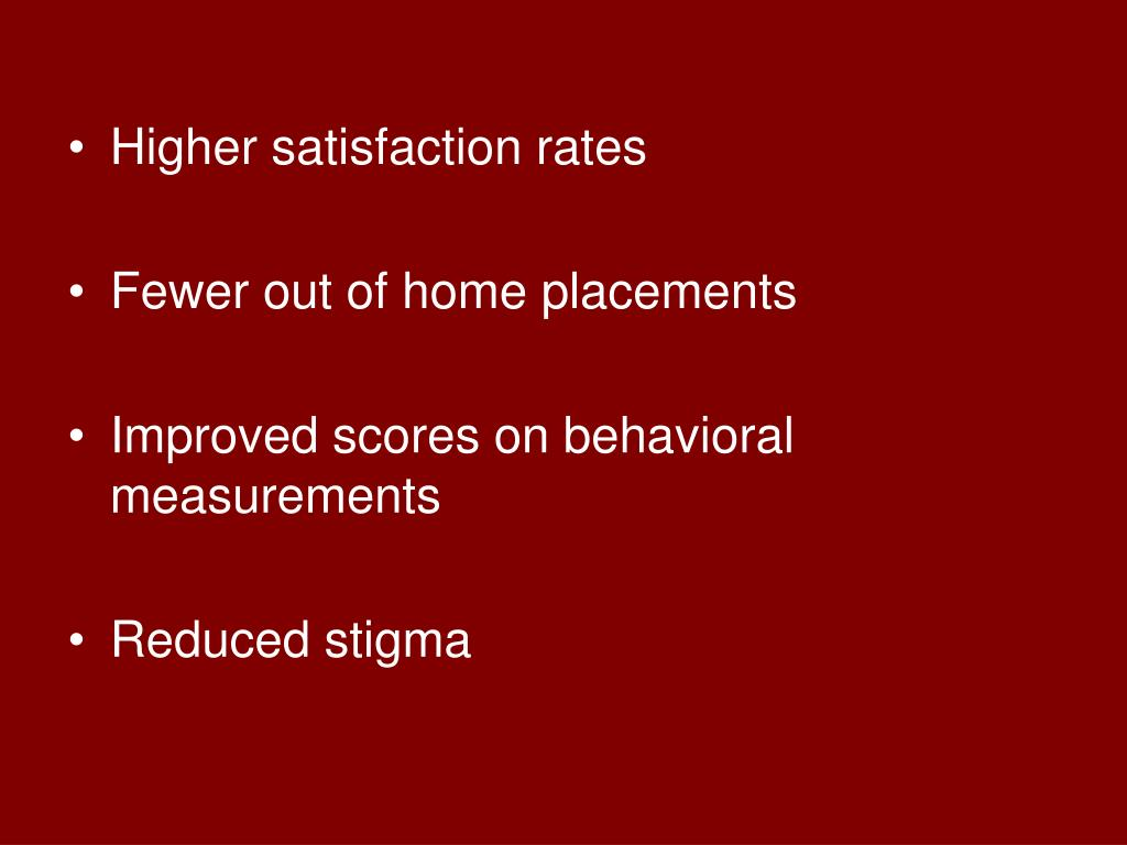 Higher satisfaction rates