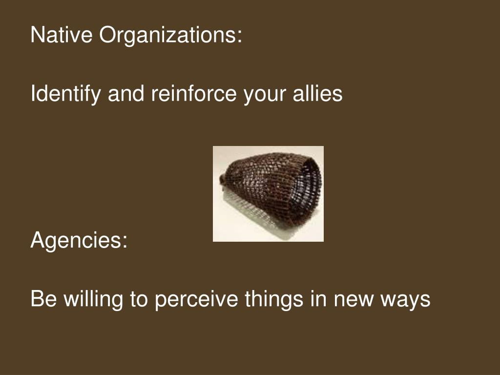 Native Organizations: