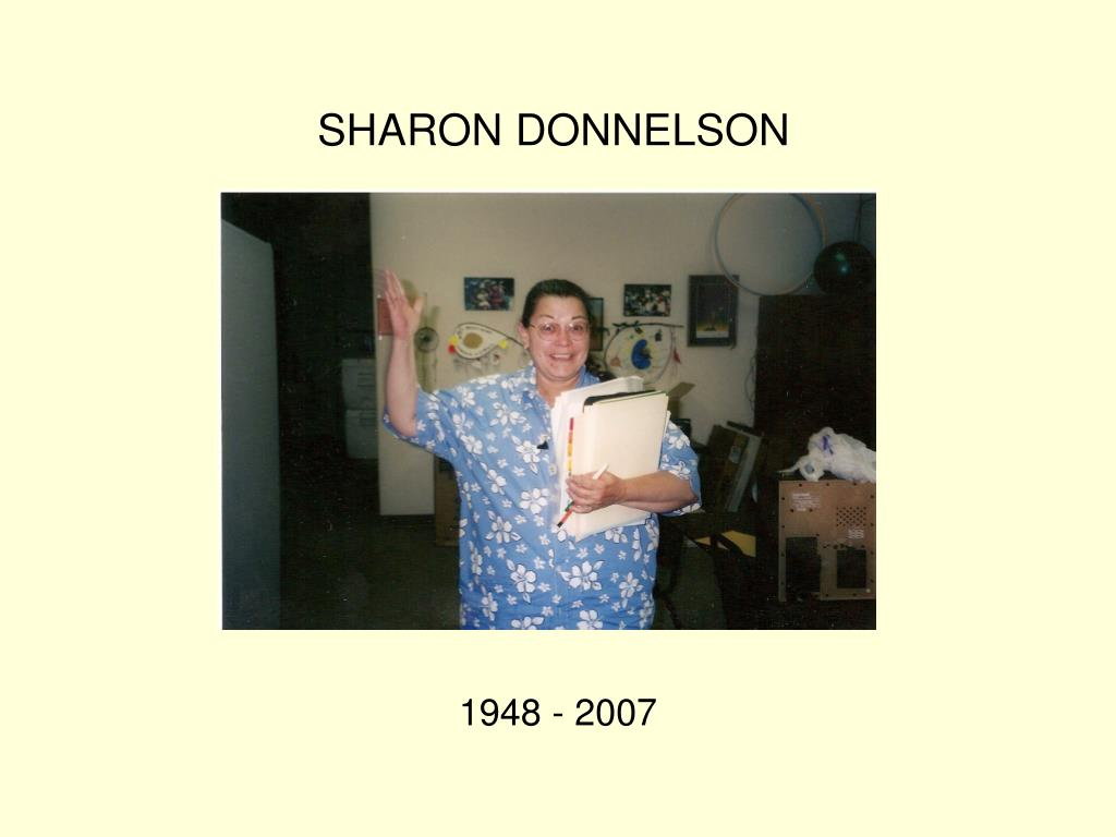 SHARON DONNELSON
