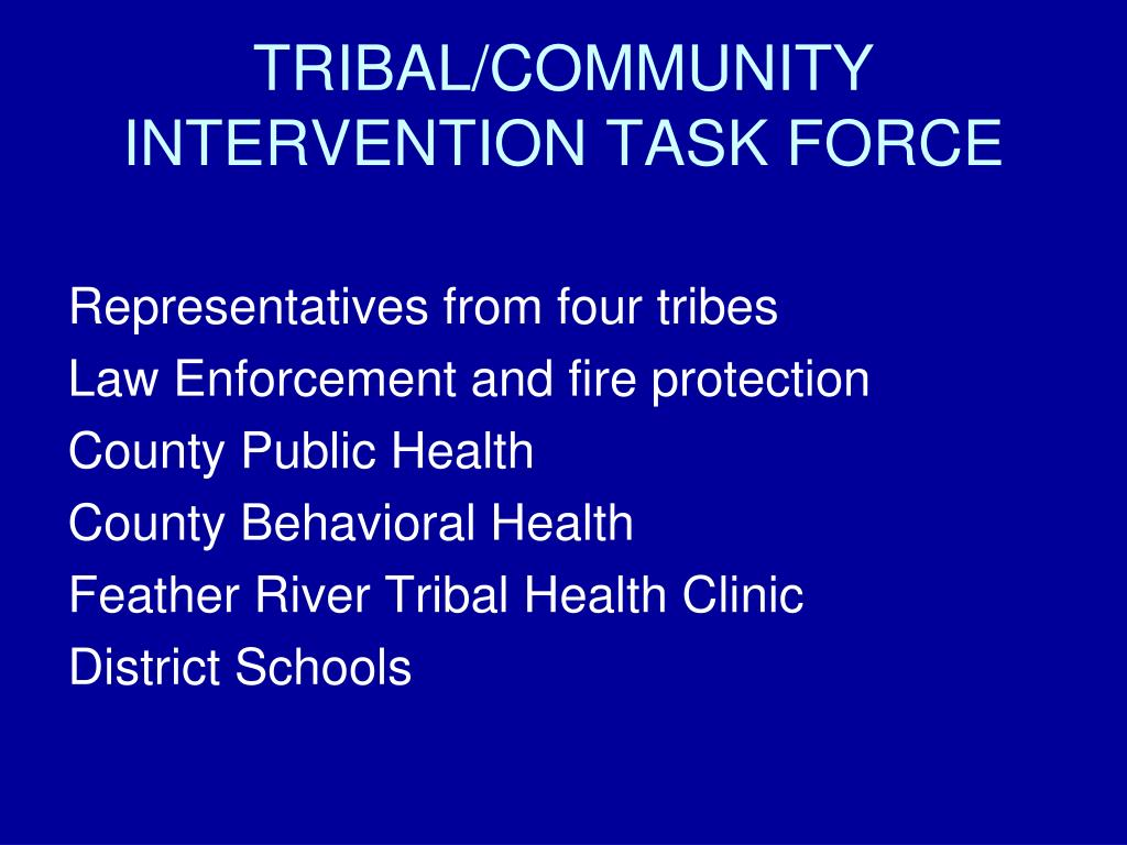 TRIBAL/COMMUNITY INTERVENTION TASK FORCE