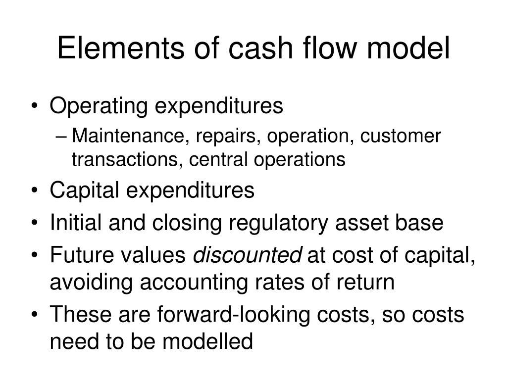 Elements of cash flow model