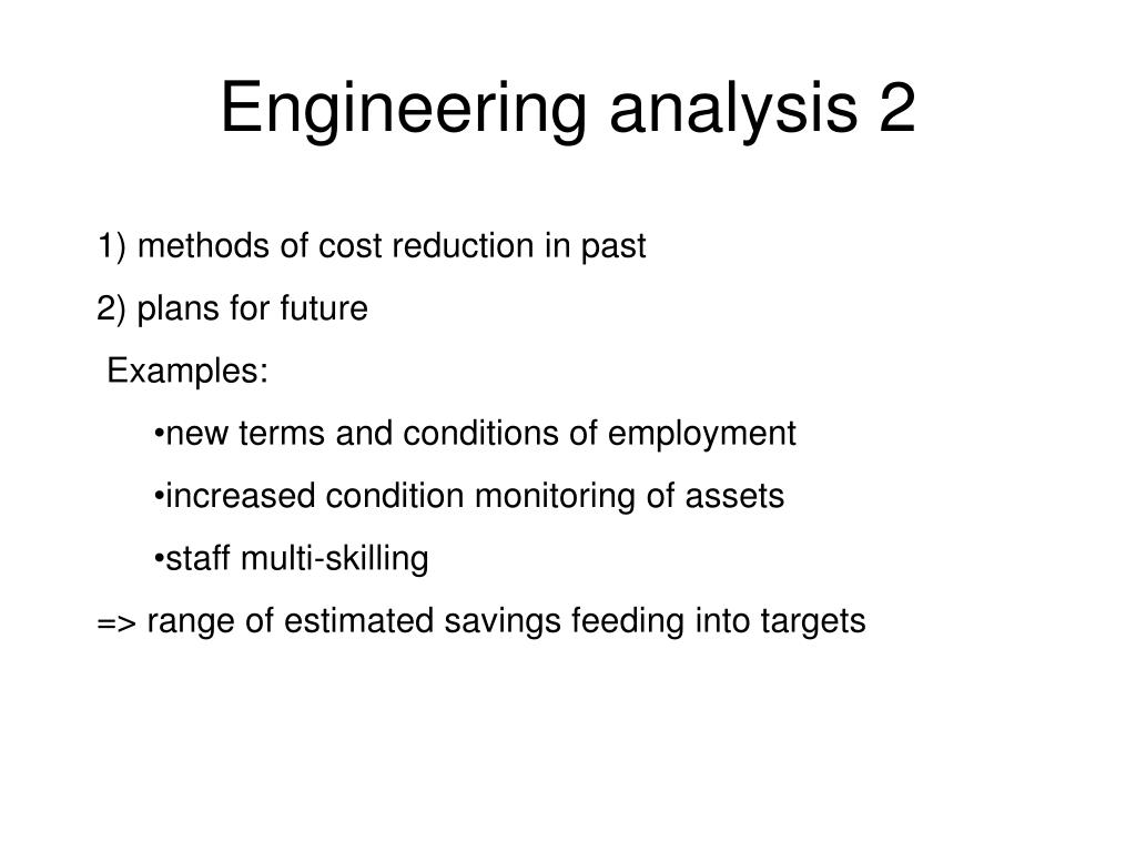 Engineering analysis 2