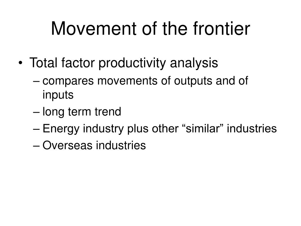 Movement of the frontier