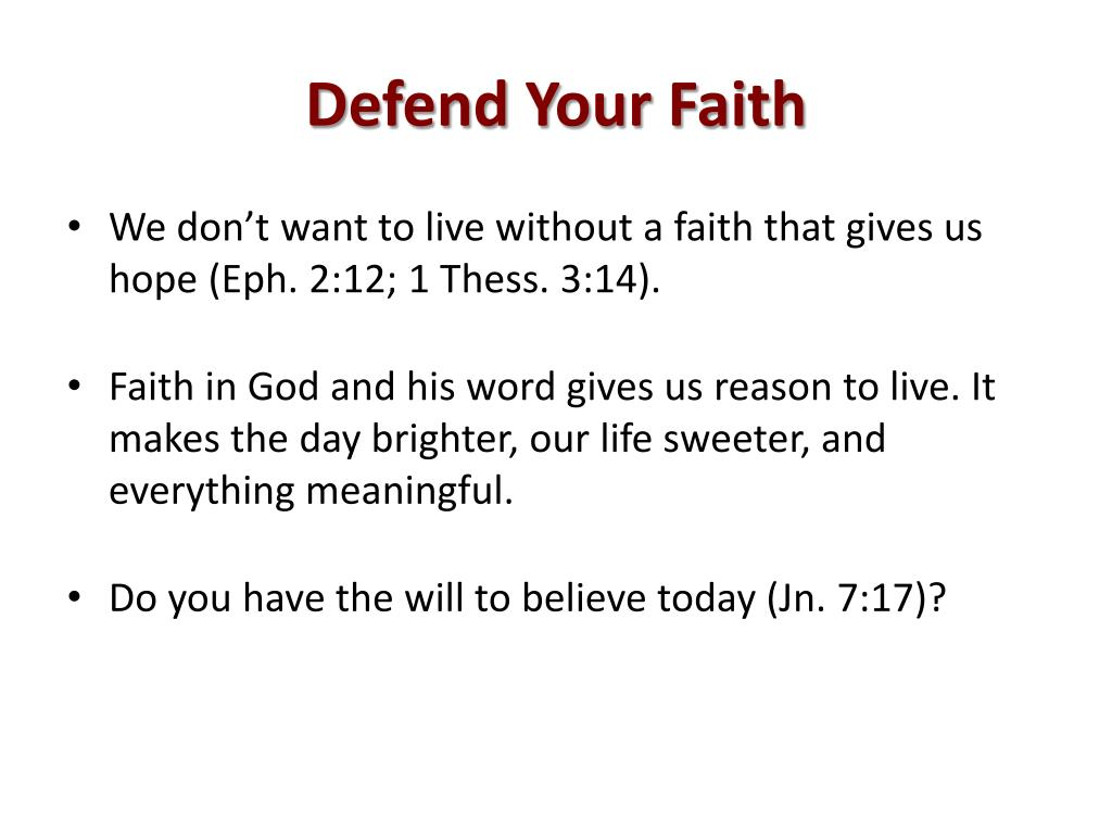 Defend Your Faith