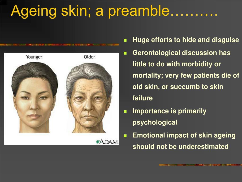 Ageing skin; a preamble……….