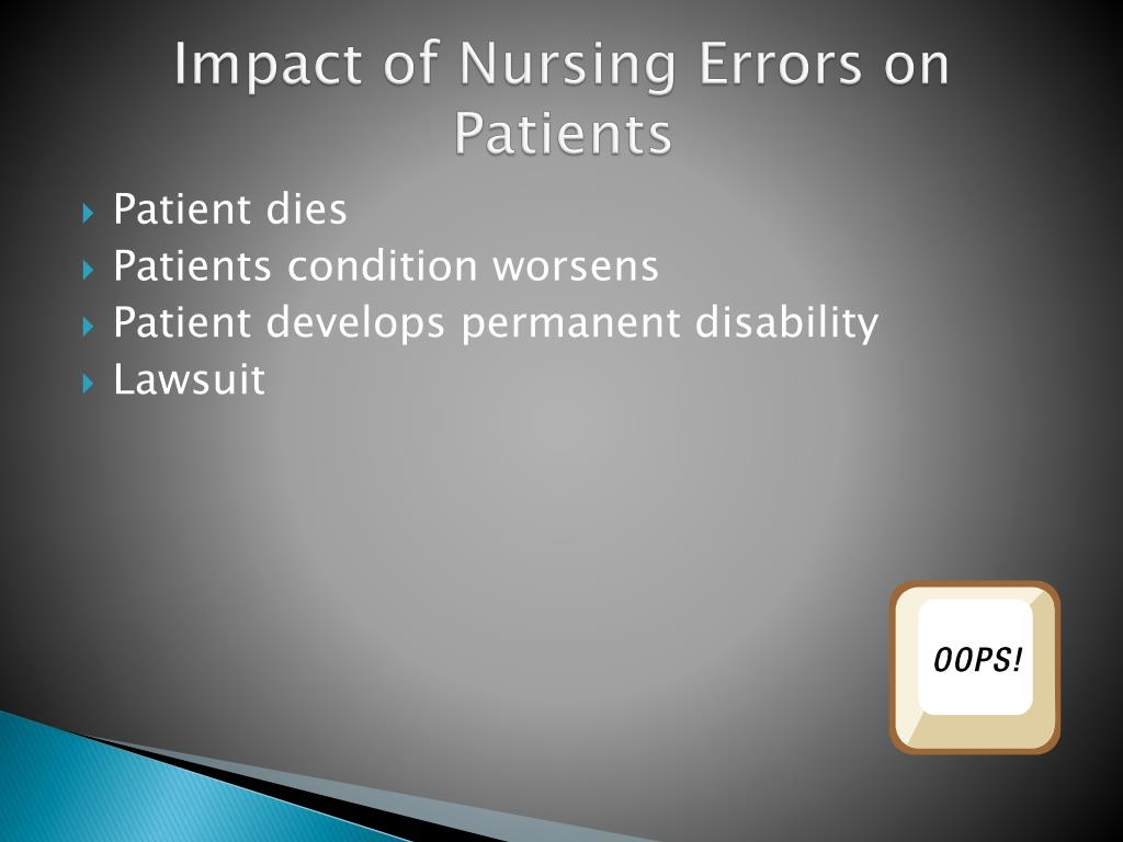 Impact of Nursing Errors on Patients