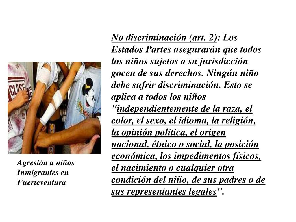 No discriminación (art. 2)