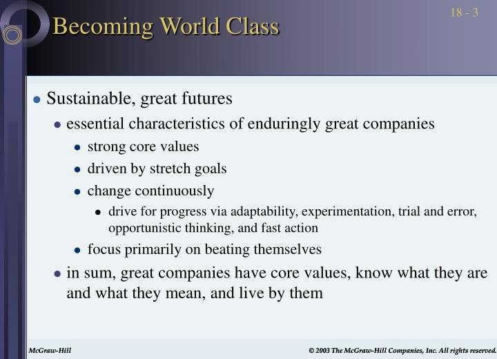Becoming world class3