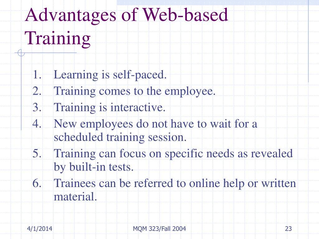 Advantages of Web-based Training