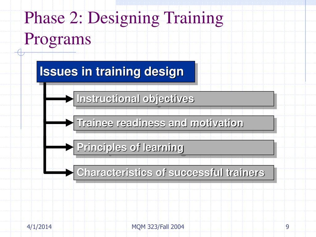 Phase 2: Designing Training Programs