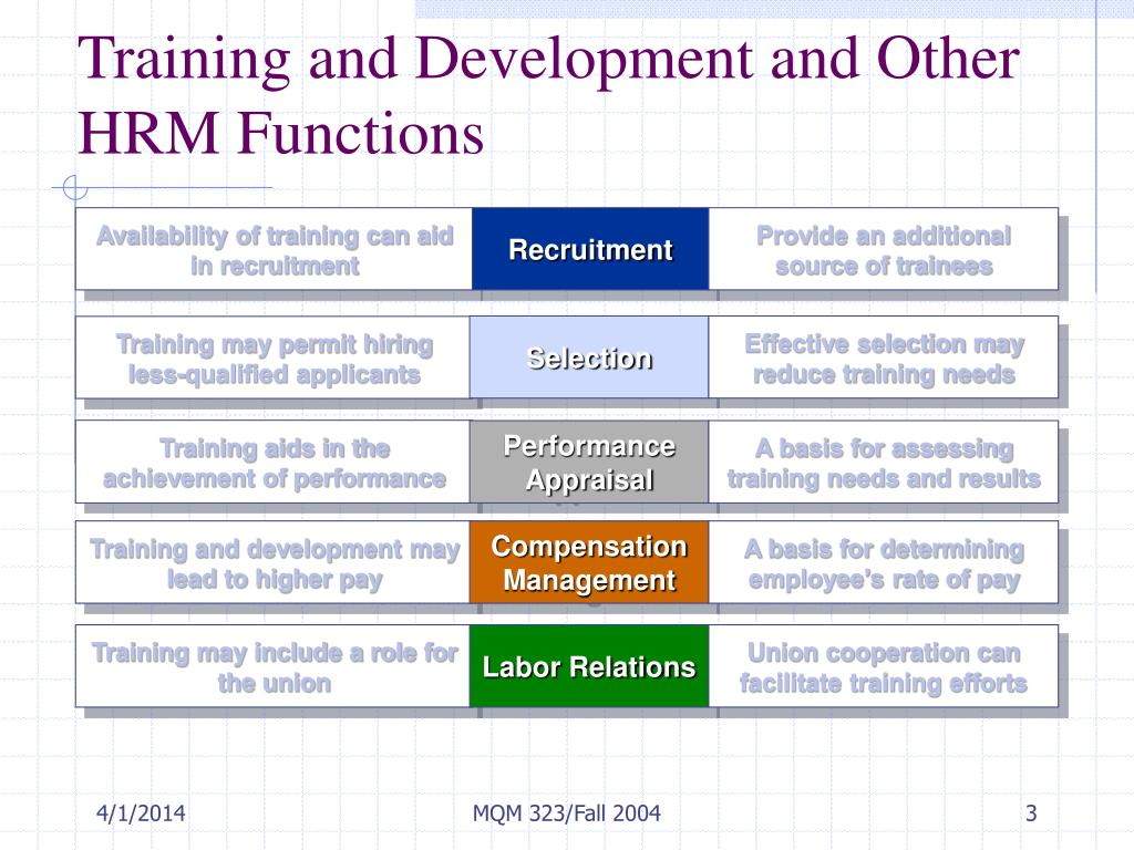 Availability of training can aid in recruitment