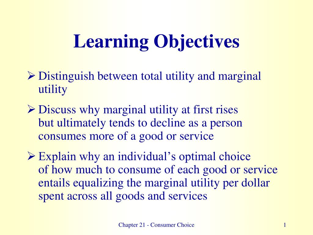 differentiate between total utility and marginal utility
