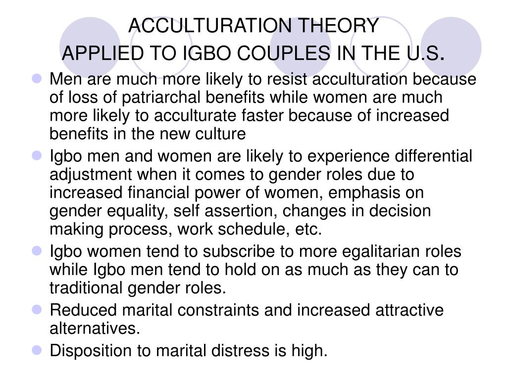 ACCULTURATION THEORY