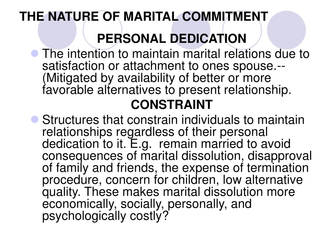 THE NATURE OF MARITAL COMMITMENT