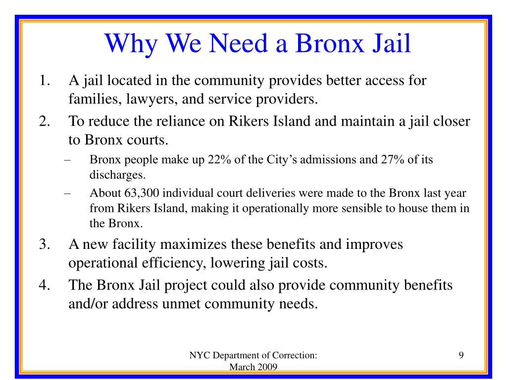 Why We Need a Bronx Jail
