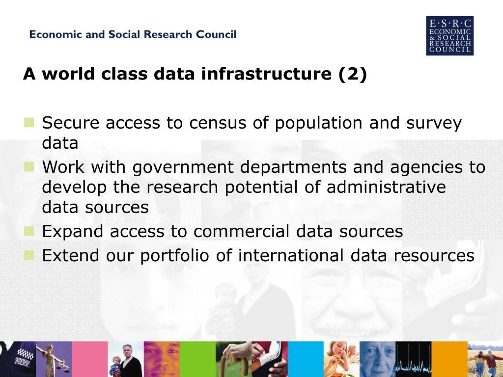 A world class data infrastructure (2)