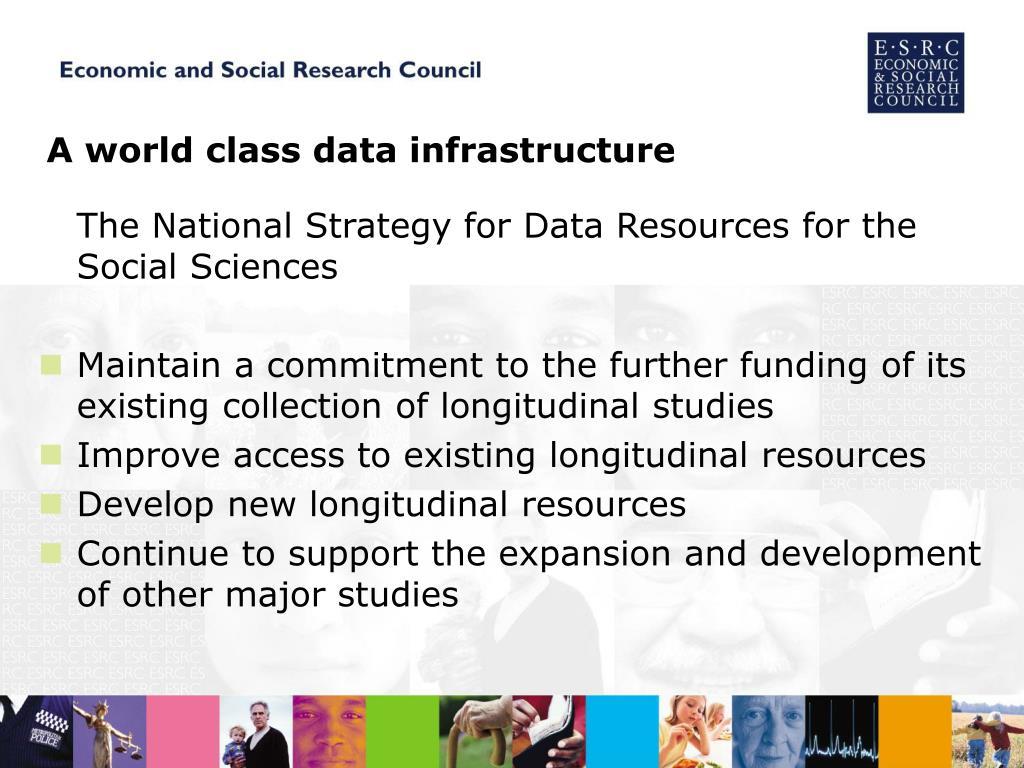 A world class data infrastructure