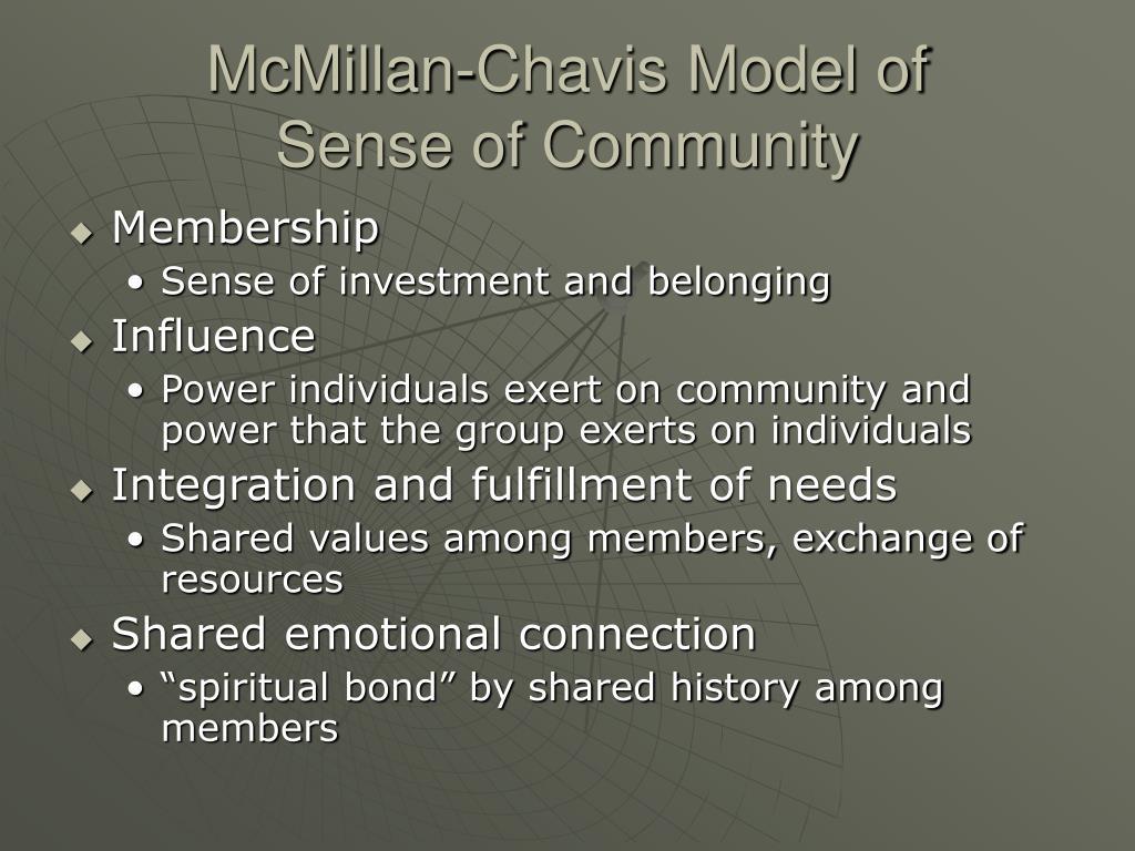 McMillan-Chavis Model of