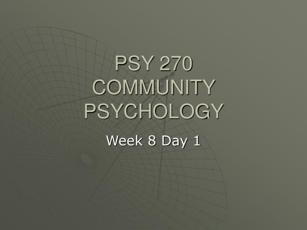 PSY 270