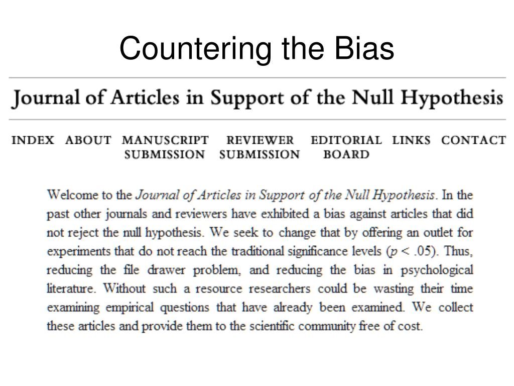 Countering the Bias