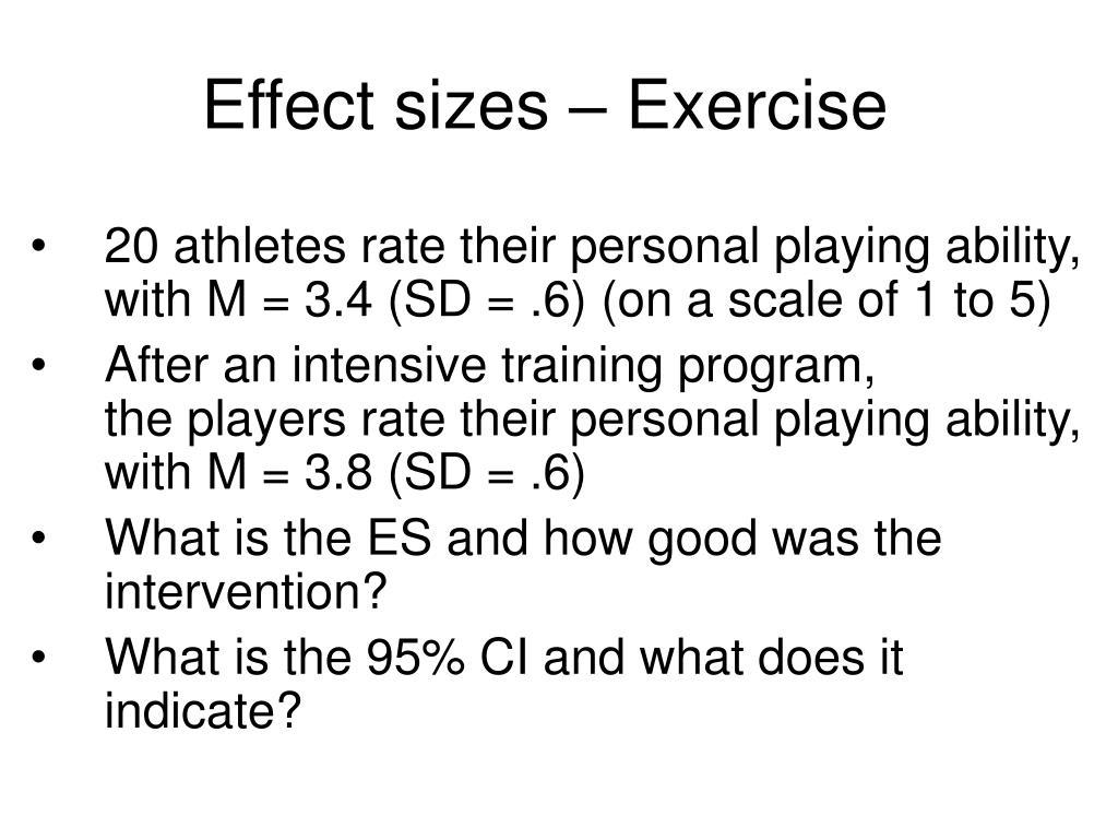 Effect sizes – Exercise