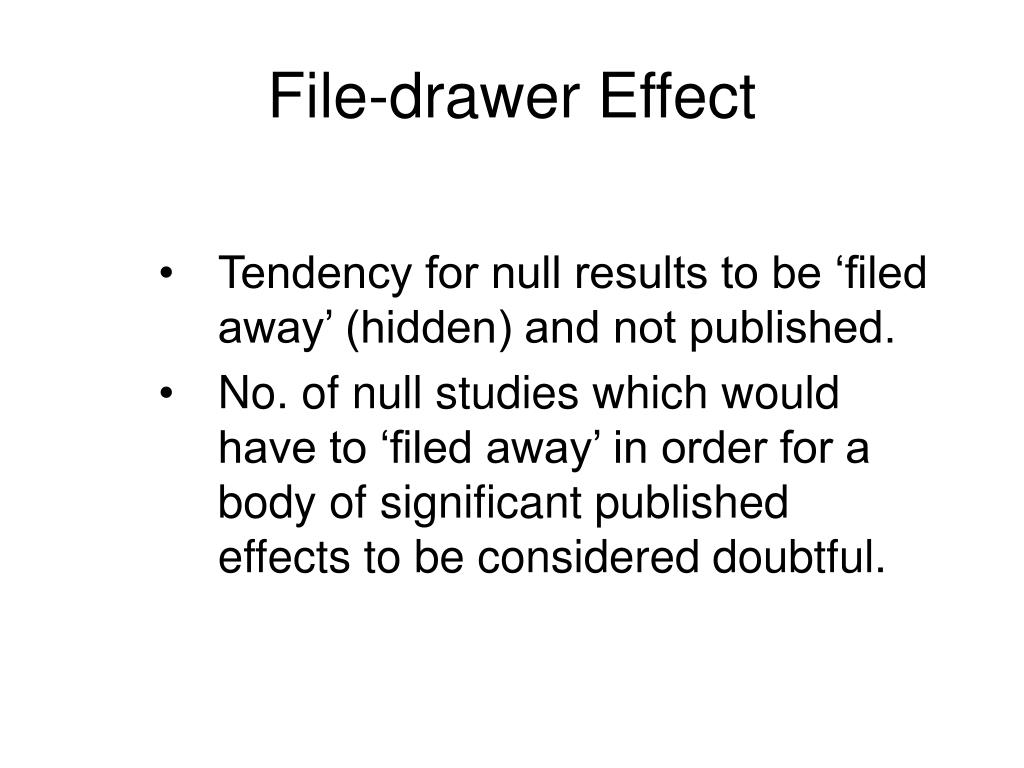 File-drawer Effect