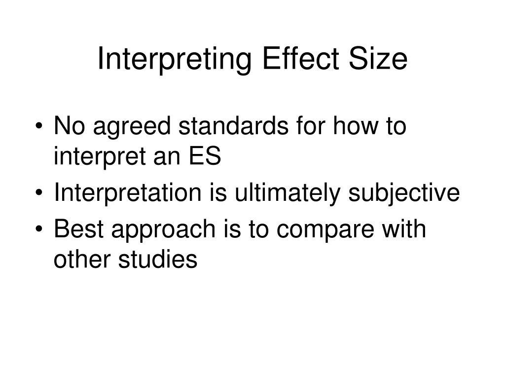 Interpreting Effect Size