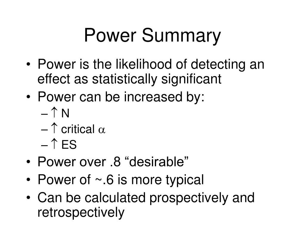Power Summary