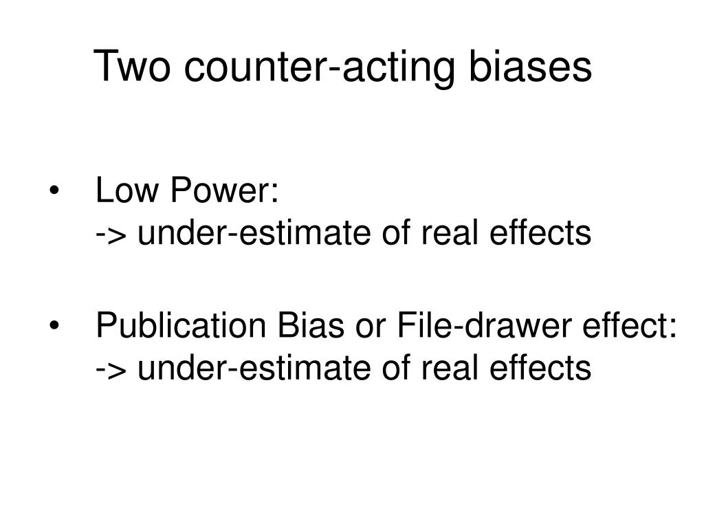 Two counter-acting biases