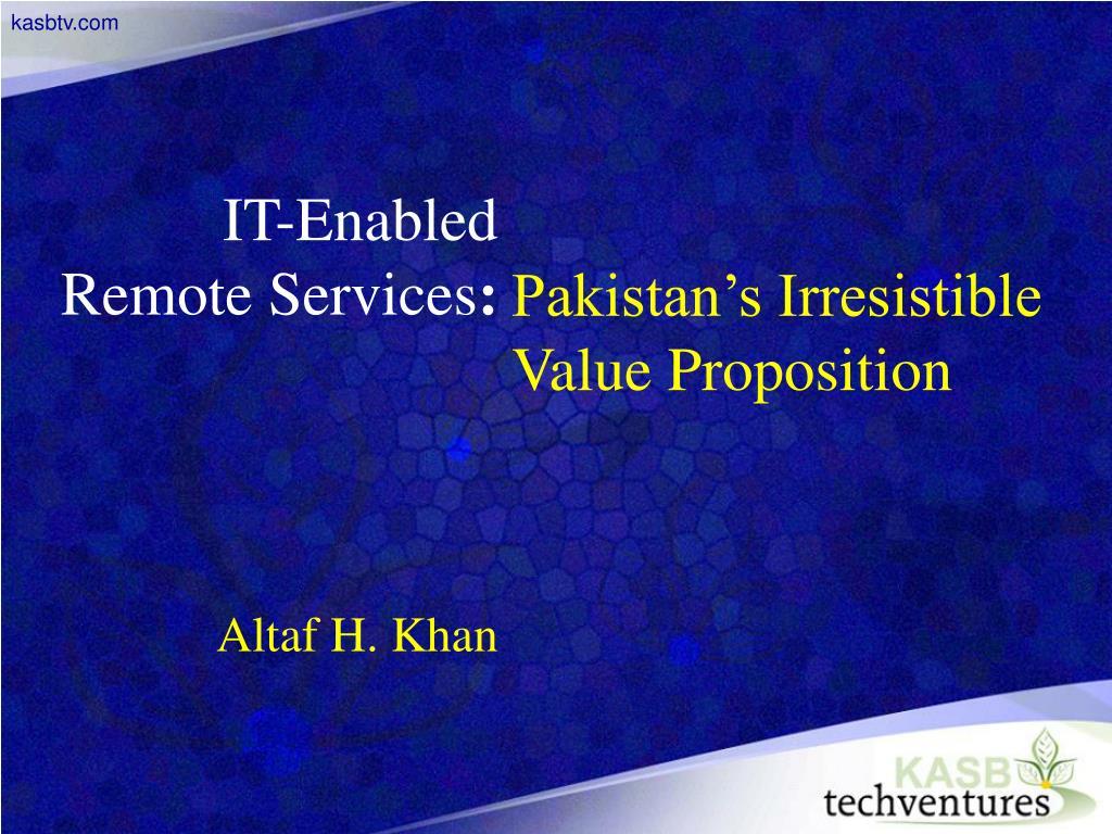 it enabled remote services altaf h khan l.