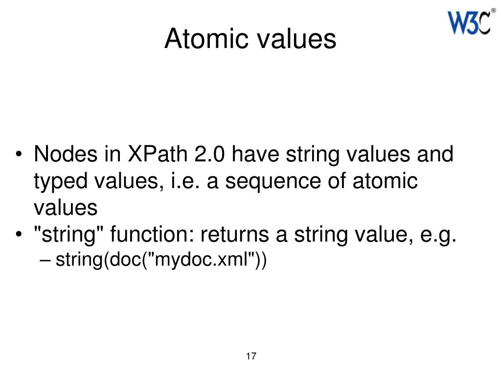 Atomic values