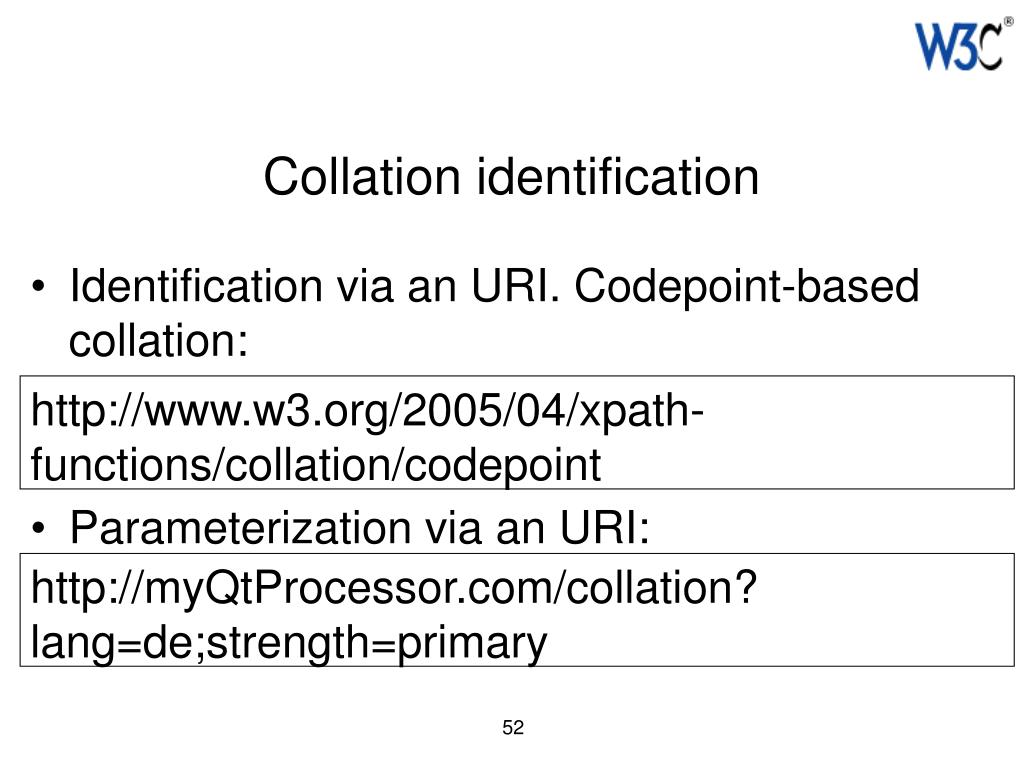 Collation identification