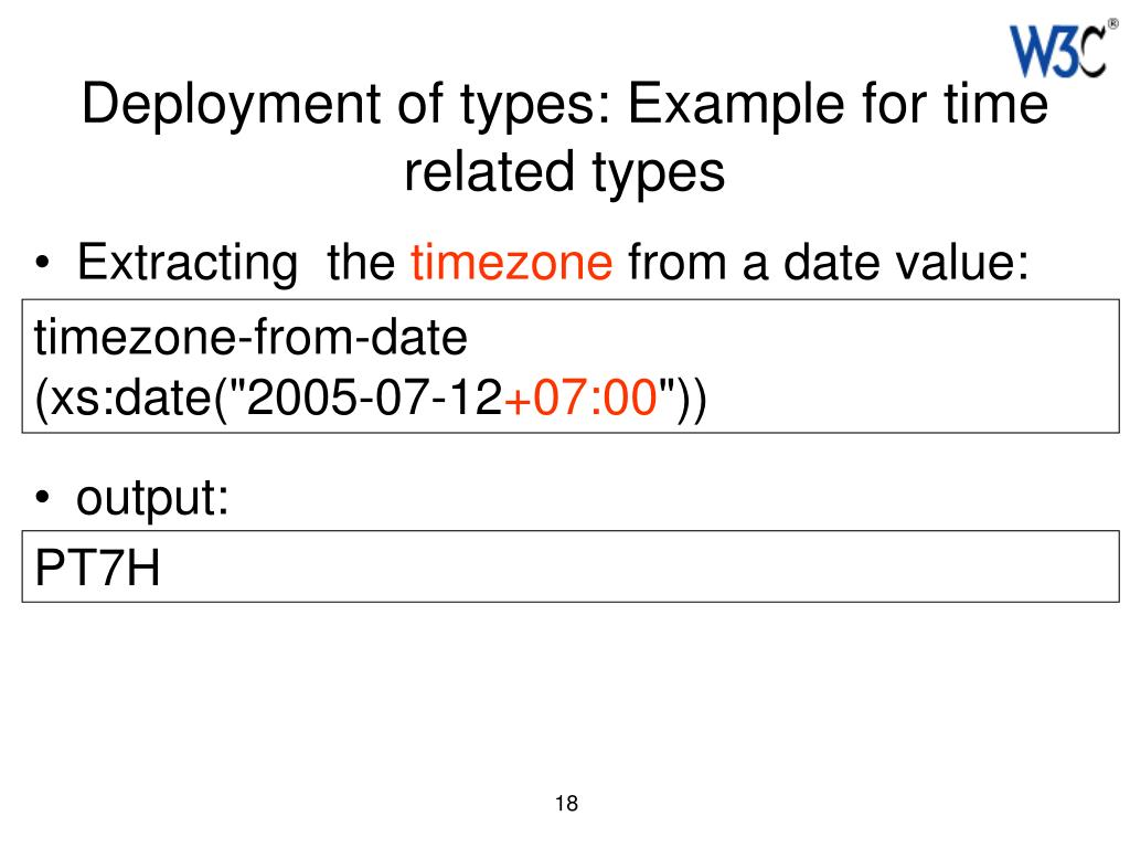 Deployment of types: Example for time related types