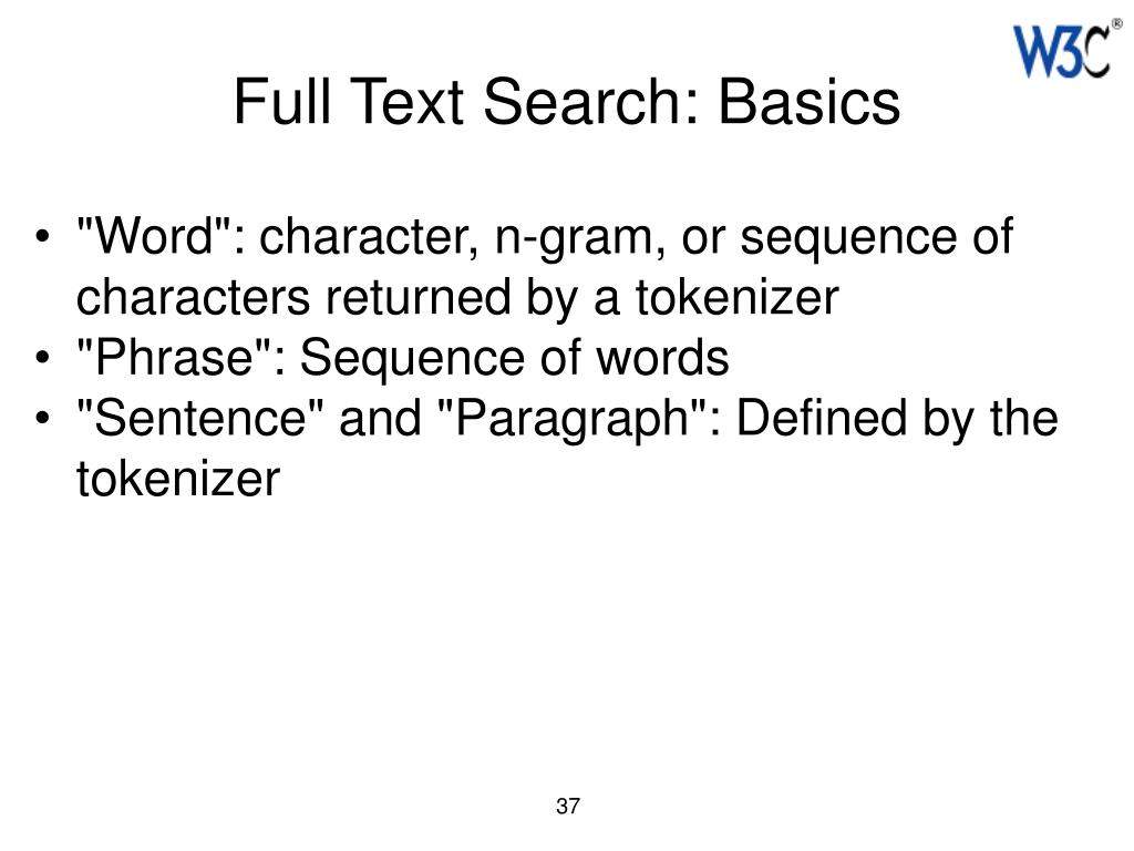 Full Text Search: Basics