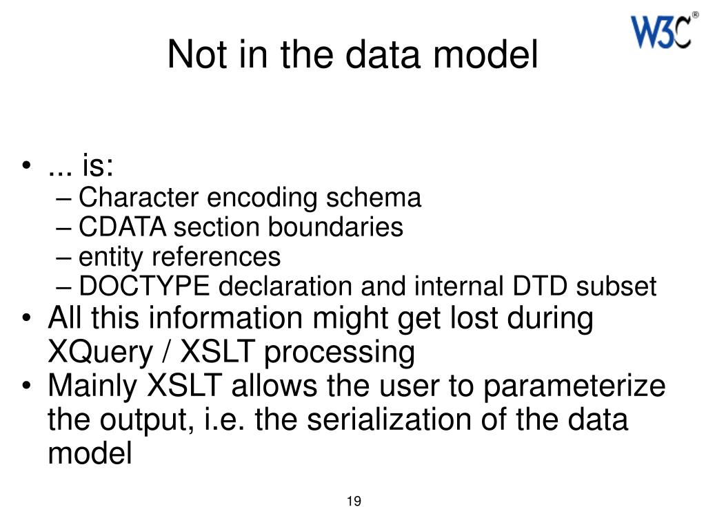 Not in the data model